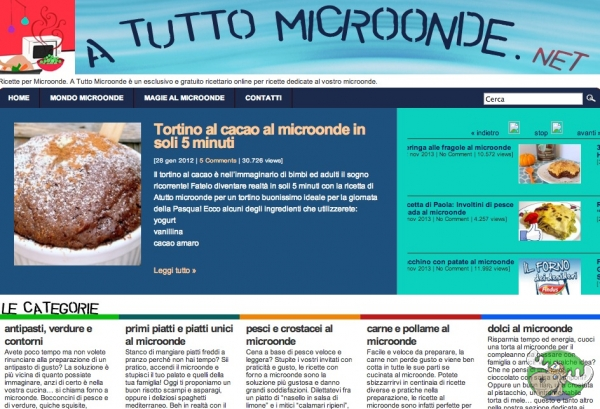 Ricette online dedicate al microonde for Ricette online
