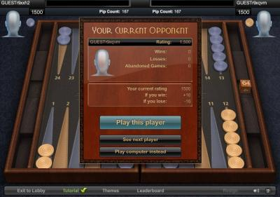Backgammon 3D Multiplayer