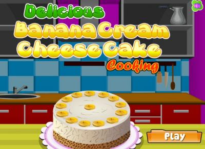 Banana Cream Cheese Cake