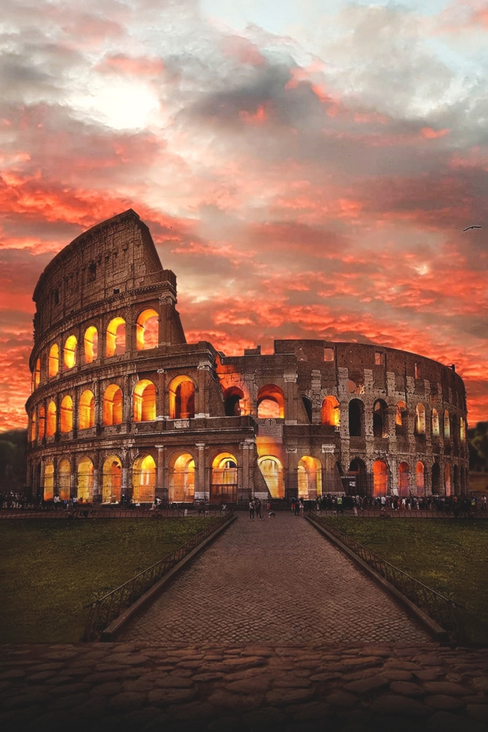 Burning Colosseo