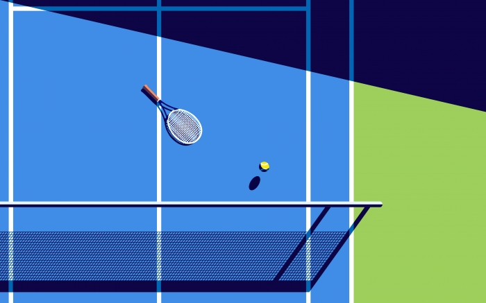 Campo da tennis minimal
