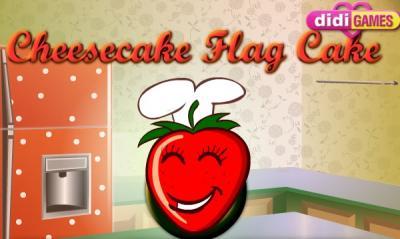 Cheesecake Flag Cake