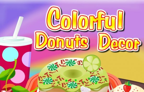 Colorful Donuts Decor
