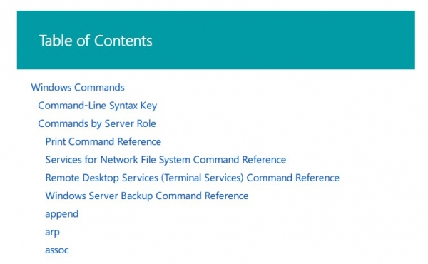 Come avere tutta la lista dei comandi di Windows Command