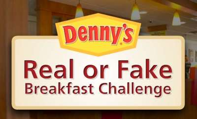 Dennys Real or Fake Breakfast Challenge