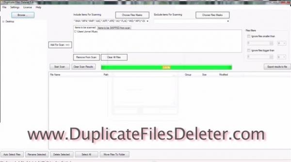 Duplicate Files Deleter