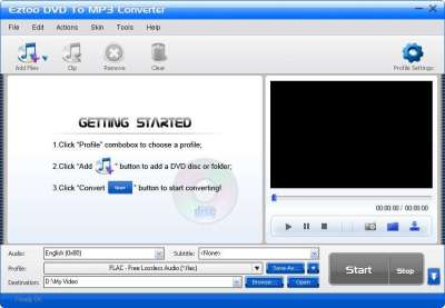 Eztoo DVD To MP3 Converter