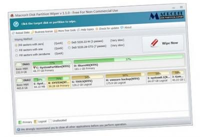 Free Disk Partition Wiper