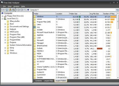 Free Disk Usage Analyzer