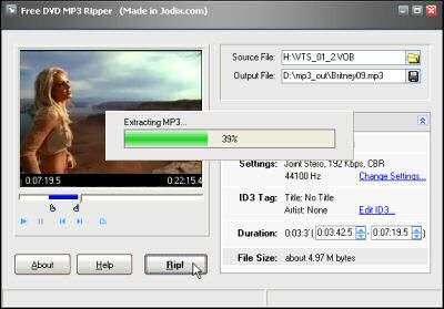 Free DVD MP3 Ripper