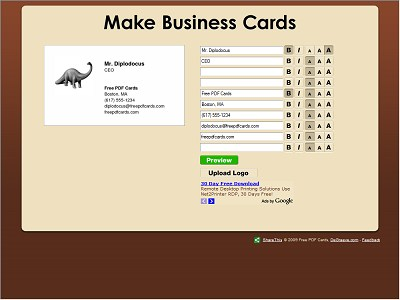 Free PDF Cards