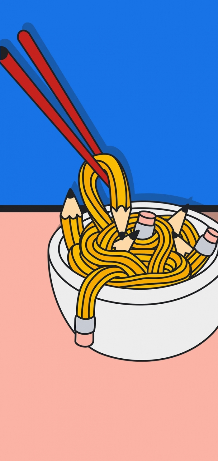 Google Pixel 5 spaghetti wallpaper