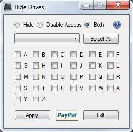 Hide Drives