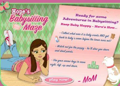 Hope Babysitting Maze