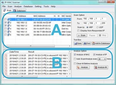 IP - MAC Scanner