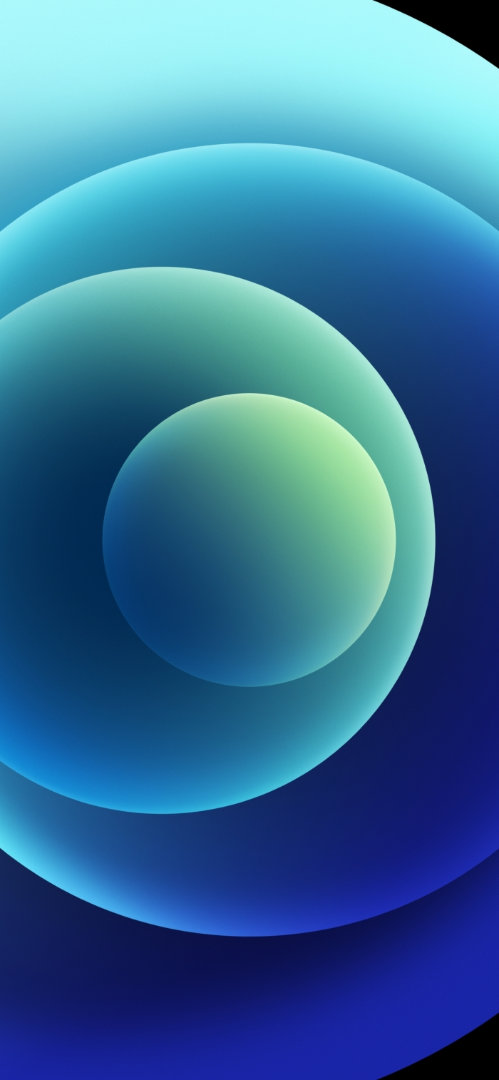 iPhone 12 Wallpaper Orbs Blue Light
