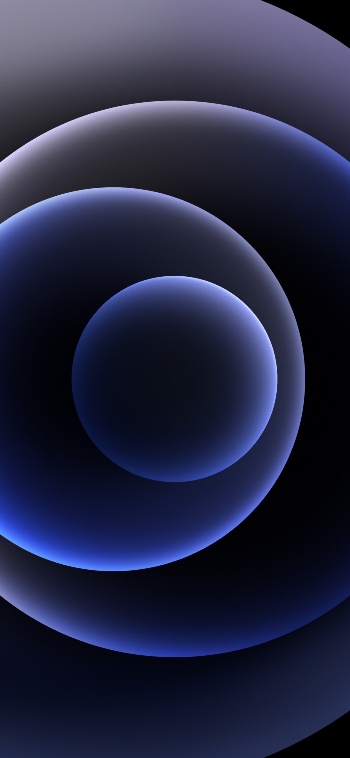 iPhone 12 Wallpaper Orbs Black Dark