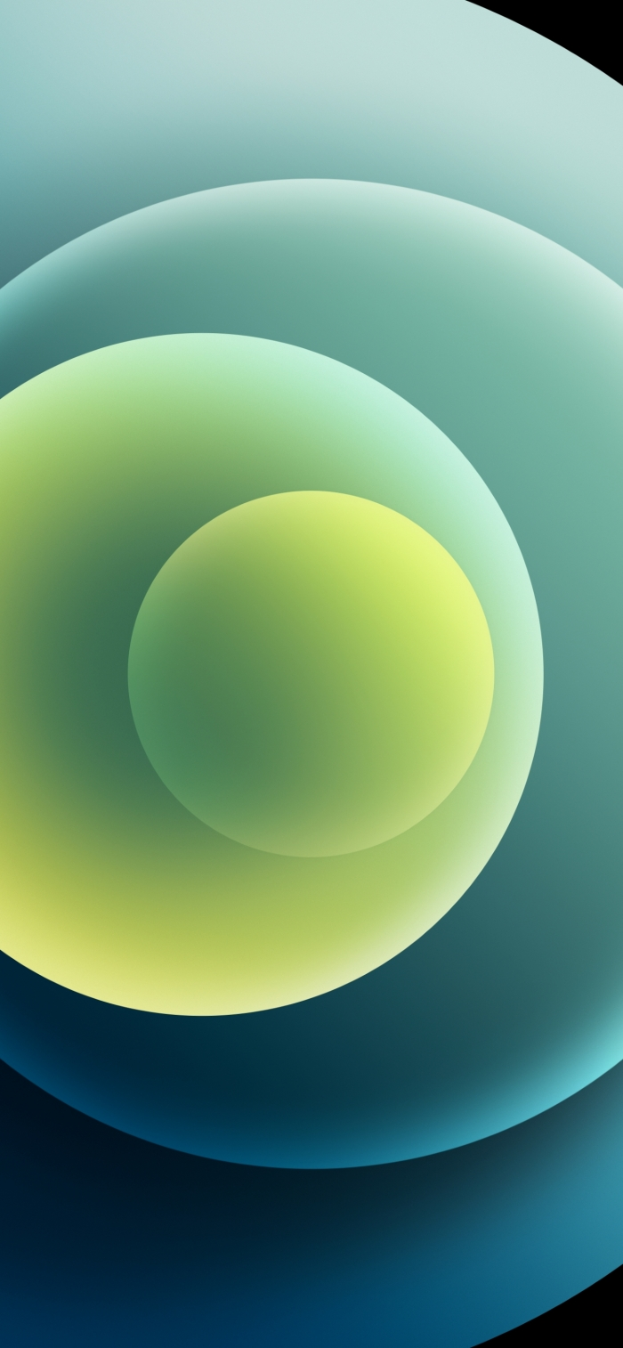 iPhone 12 Wallpaper Orbs Green Light