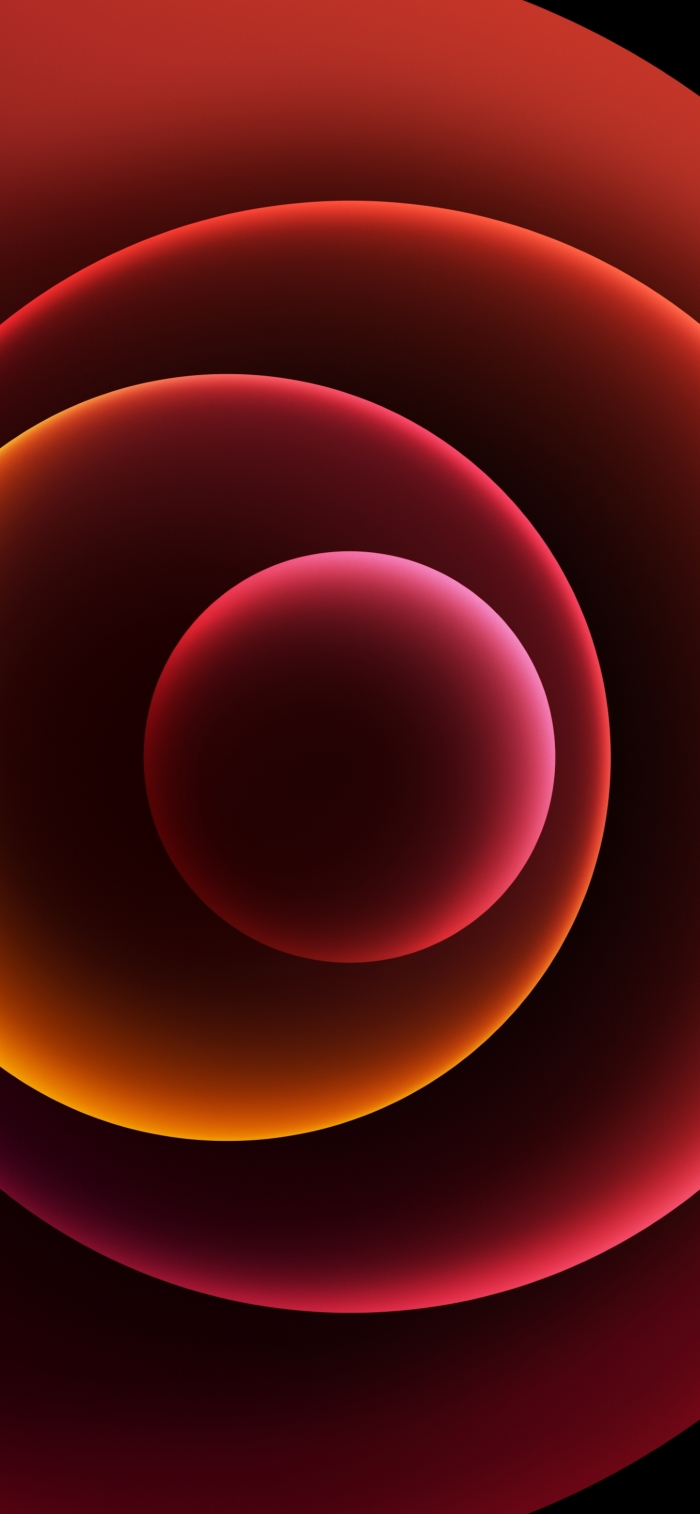 iPhone 12 Wallpaper Orbs Red Dark