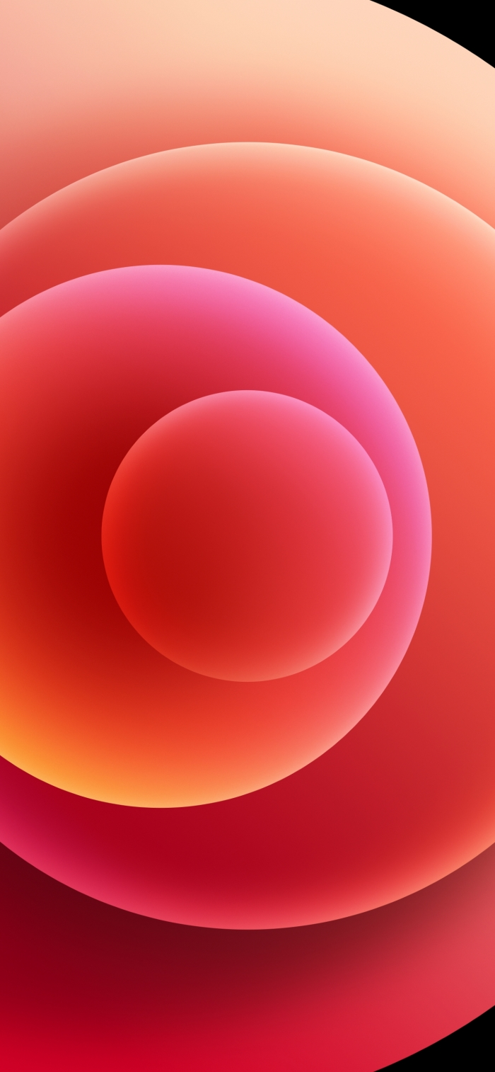iPhone 12 Wallpaper Orbs Red Light