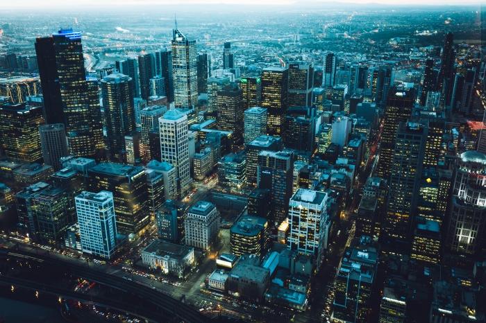 Metropoli dall'alto