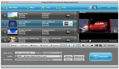 MKV to AVI Mac converter