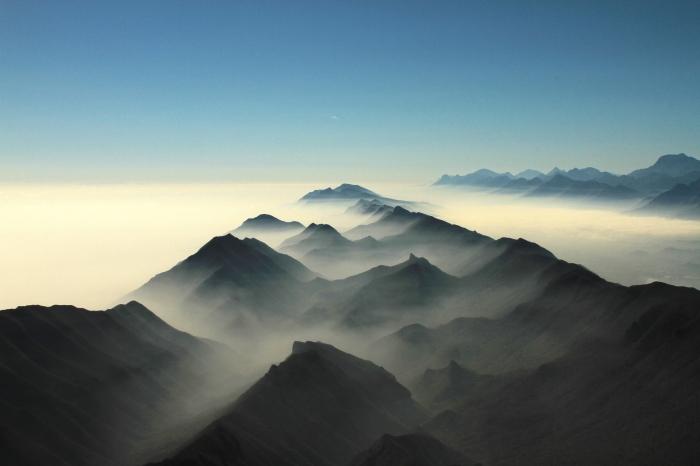 Montagne in cima
