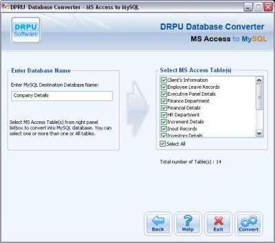 MS Access to MySQL Database Converter