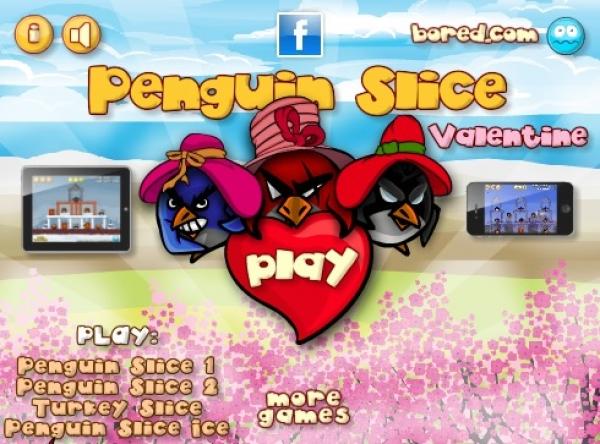 Penguin Slice Valentine