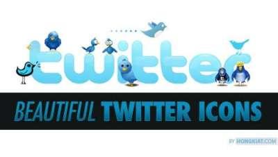 Piu di 100 icone e bottoni di Twitter