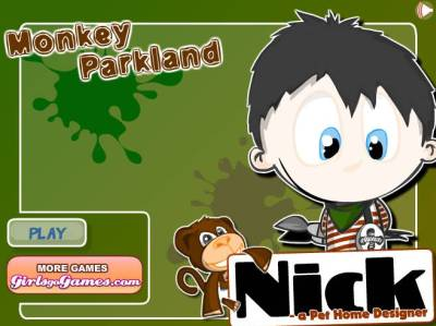 Play Pet Home Designer: Monkey Parkland