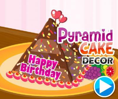 Pyramid Cake Decor