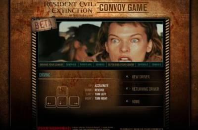Resident Evil Extinction - Convoy Game