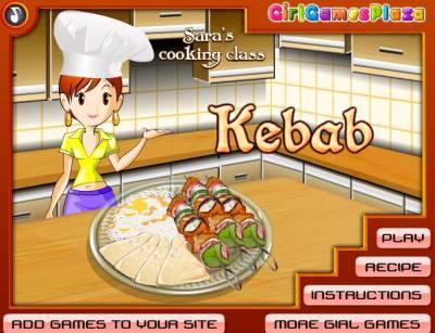 Sara Cooking Kebab