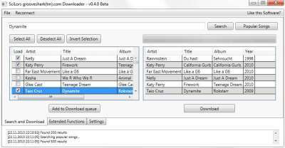 SciLors Grooveshark Downloader