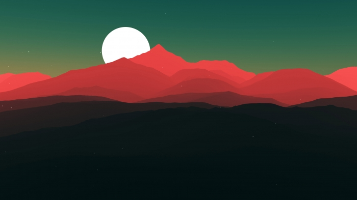 Sfondo minimale di montagne in rosso