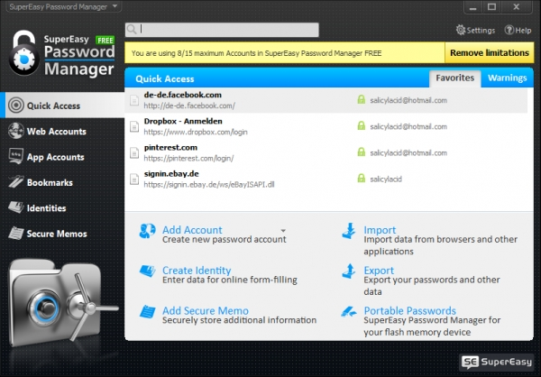 SuperEasy Password Manager