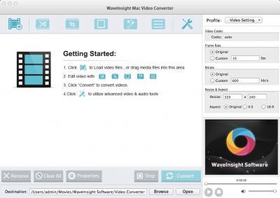 WaveInsight Video Converter for Mac