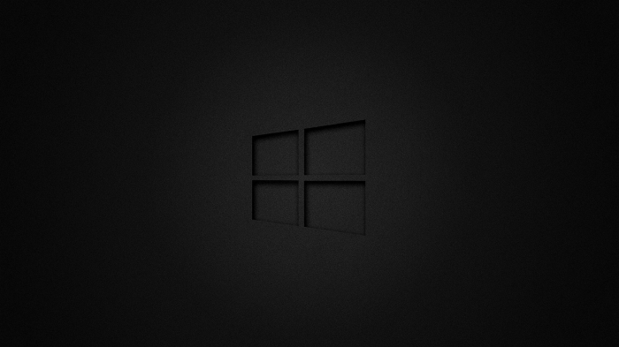 Windows 10 logo dark
