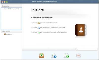 Xilisoft Salvare Contatti iPhone su Mac