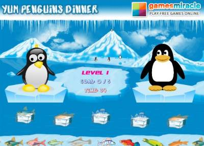 Yum Penguins Dinner