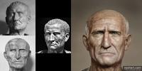 54 volti di imperatori romani ricostr...