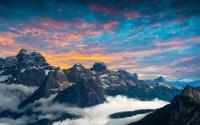 Dolomiti al tramonto in 4k