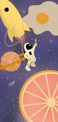 Google Pixel 5 Space Wallpaper