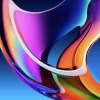 2 sfondi ufficiali Apple Iridescence 4k