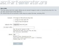 Online ASCII Art Creator