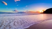 Spiaggia al tramonto 4k